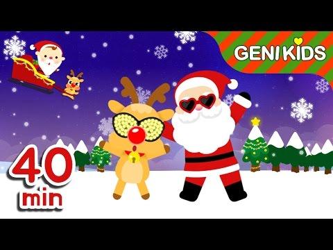 신나는 크리스마스 캐롤 모음 40분 | 징글벨, 창 밖을 보라 + 총 30곡 | 크리스마스 동요 연속듣기★지니키즈