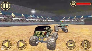 Fearless Army Monster Truck Derby Stunts | Android Gameplay | Friction Games