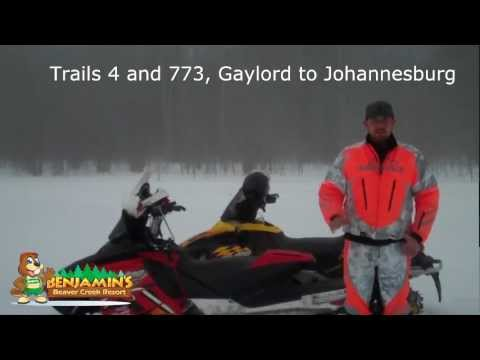 March 8th Gaylord snowmobile trail report