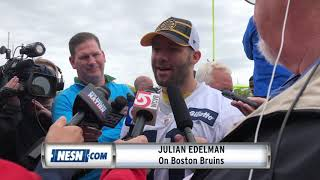 Bill Belichick, Julian Edelman Have Bruins Stanley Cup Fever