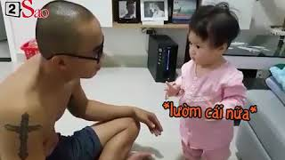 Con gái cãi ba chem chẻm