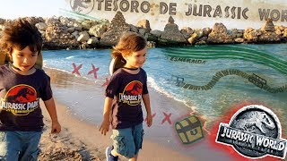 Juguetes JURASSIC WORLD 2 😱 Fallen Kingdom ENCONTRAMOS EL MAPA DEL TESORO DE JURASSIC WORLD!!