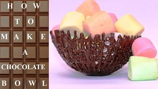How To Make CHOCOLATE Basket BOWLS  Chocolate Hacks by CakesStepbyStep