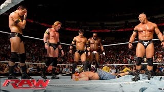 The Nexus interrupt the main event and reap destruction: Raw, June 7, 2010