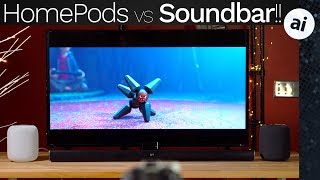 Stereo HomePods vs $180 Soundbar - EMBARRASSING!