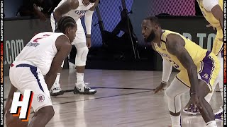 Kawhi Leonard Takes on LeBron James | Clippers vs Lakers | July 30, 2020