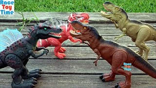 Dino Battle Compilation Videos - Dinosaurs Toys For Kids