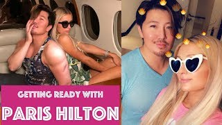 Getting ready with Paris Hilton