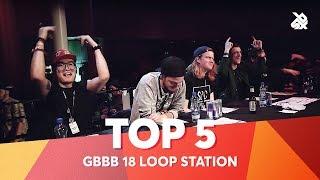 TOP 5 DROPS 😱 Grand Beatbox Battle Loopstation 2018