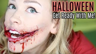 RIPPED FACE HALLOWEEN MAKEUP! | Get Ready With Me!