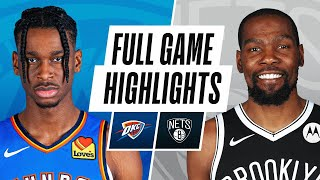 THUNDER at NETS | FULL GAME HIGHLIGHTS | January 10, 2021