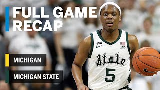 Full Game Recap: Winston Leads Spartans to B1G Title | Michigan vs. Michigan State | March 9, 2019