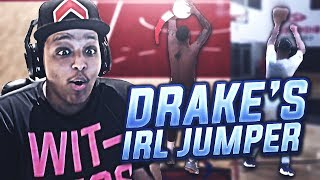 USING DRAKE'S REAL LIFE JUMPER IN NBA 2K18!!! HALF-COURT GREEN RELEASES!!!