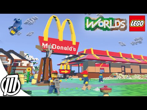 LEGO Worlds Gameplay - Taming A Dragon - Lego Worlds Funny Moments ...