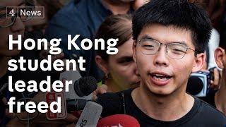 Hong Kong: freed democracy activist Joshua Wong calls for leader to go