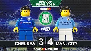 Chelsea vs Manchester City 0−0 (3-4) Penalty Kicks • Final Carabao Cup 2019 parody in Lego Football