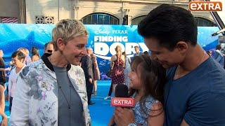 Mario Lopez's Daughter Takes the Mic, Asks Ellen DeGeneres About His Shirtless Show Appearances