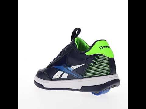 Video HEELYS X REEBOK Court Low Roller Shoe (10367) Blue