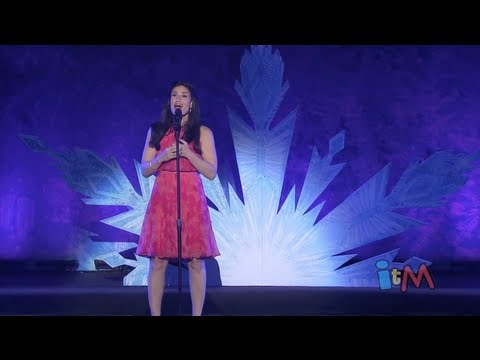 "Idina Menzel sings ""Let it Go"" from Disney's Frozen at D23 ..."
