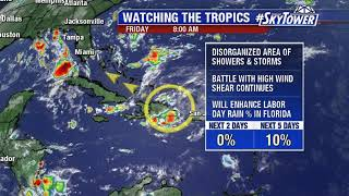 Tropical weather forecast: August 31, 2018
