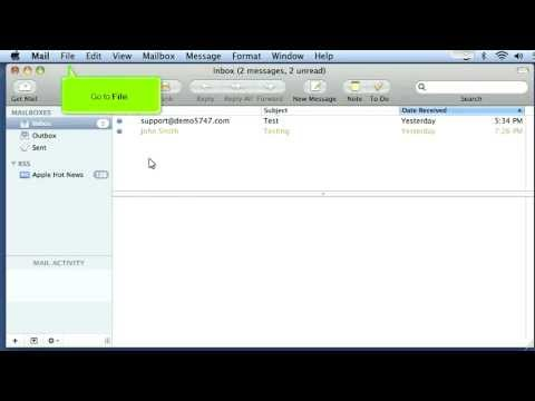 How to configure an email account in Apple Mail for IMAP