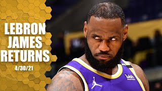 LeBron James returns to the Lakers from ankle sprain vs. the Kings | NBA on ESPN