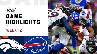 Broncos vs. Bills Week 12 Highlights | NFL 2019