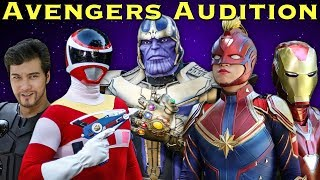 The Avengers Audition [FAN FILM] Power Rangers | Marvel