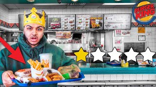 This Is The WORST BURGER KING! (WORST REVIEWED!)