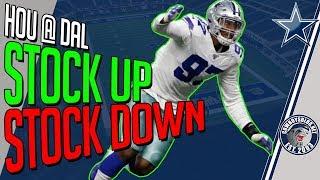 Dallas Cowboys Stock Up Stock Down Report | Cowboys Texans Postgame