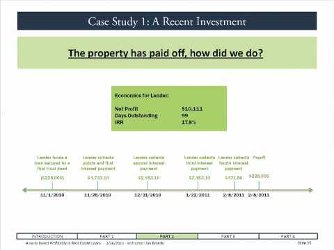 TRUST DEED INVESTING:  How to Calculate the Returns on Short Term Real Estate Loans