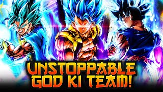 THE GODS REACHING NEW LEVELS! THE UPDATED GOD KI TEAM WITH GOGETA BLUE! | Dragon Ball Legends PvP