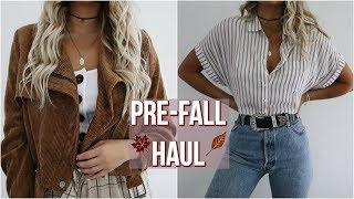 PRE FALL HAUL // try-on 2018