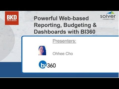 Powerful Web-based Reporting, Budgeting & Dashboards with BI360