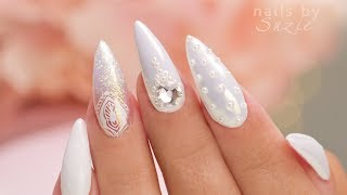 White On White - 5 Nail Art Designs