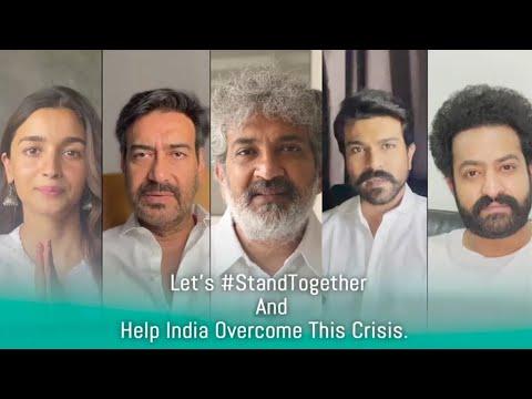 RRR team-Jr NTR, Ram Charan, Alia Bhatt, Ajay Devgan, Rajamouli-creates corona awareness