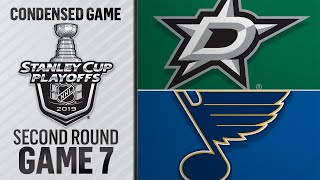 05/07/19 Second Round, Gm7: Stars @ Blues