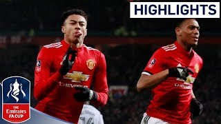 Man Utd 2 - 0 Derby Official Highlights | Incredible Strike from Lingard | Emirates FA Cup 2017/18