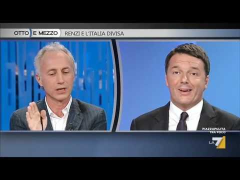 Matteo Renzi e Marco Travaglio: il Si e il No al Referendum
