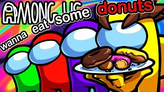 Among Us Funny Moments - Tempting Strangers with Poisonus Donuts in Public Lobbies!