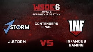 Infamous vs J.Storm Game 3 - WSOE 6: Dota 2 - Serenity's Destiny - Contenders Final