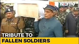 Watch: Rajnath Singh Carries Coffin Of Soldier Killed In P..