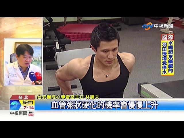 """""""大胸肌""""練過頭 動脈硬化風險增2.2倍"""