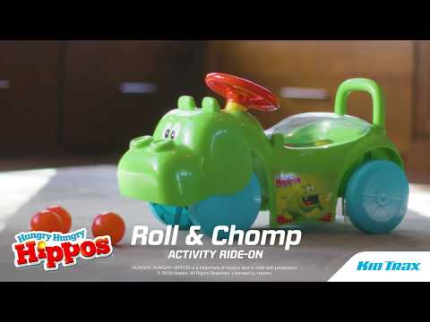 Bring the fun of the classic game right to the driveway and playroom as kids ride and play with this adorable Hasbro Hungry Hungry Hippo Activity Ride-On from Kid Trax!