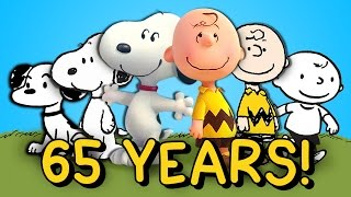 65 YEARS IN 5 MINUTES: The History Of Peanuts (Snoopy & Charlie Brown)