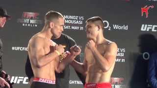 Weigh-in: Drew Dober vs. Nick Hein