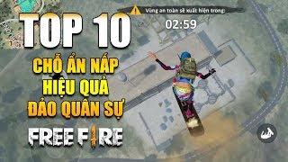 Free Fire | TOP 10 chỗ ẨN NẤP hiệu quả bản đồ Đảo Quân Sự | Rikaki Gaming