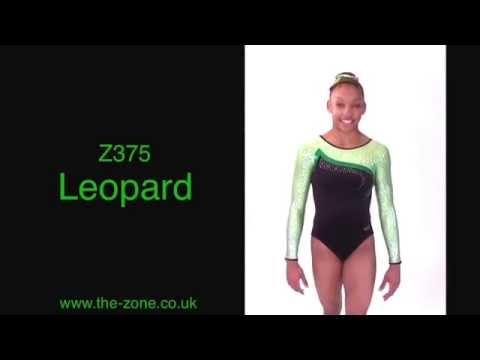 Leopard Long Sleeved Gymnastics Leotard