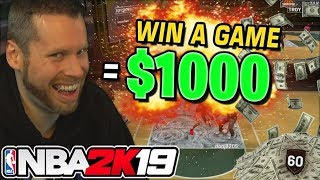 Giving kids $1000 to WIN a game on NBA 2K19