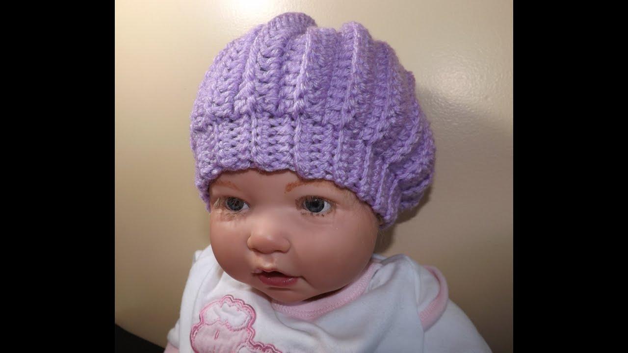 Crochet Baby Hat Youtube